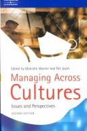 Cover of: Managing Across Cultures