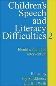 Cover of: Children's Speech and Literacy Difficulties: Identification and Intervention