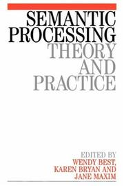 Cover of: Semantic Processing