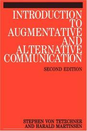 Cover of: Introduction to Augmentative and Alternative Communication