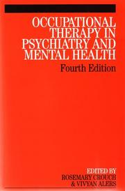 Cover of: Occupational Therapy in Psychiatry and Mental Health