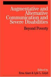 Cover of: Augmentative and Alternative Communication and Severe Disabilities