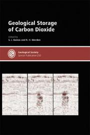 Cover of: Geological Storage of Carbon Dioxide - Special Publication no. 233