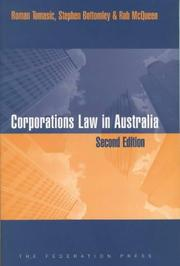 Cover of: Corporations Law in Australia
