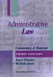 Cover of: Administrative Law: Commentary and Materials