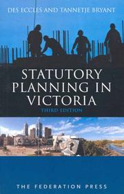 Cover of: Statutory Planning in Victoria