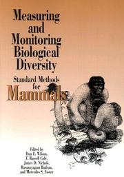 Cover of: Measuring and Monitoring Biological Diversity