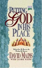 Cover of: Putting God in His Place