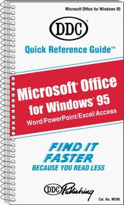 Cover of: Quick Reference Guide for Microsoft Office Windows 95