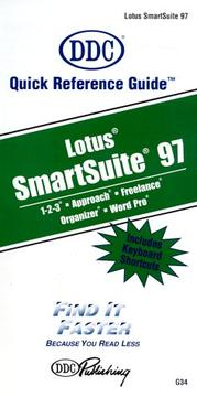Cover of: Quick Reference Guide Lotus Smartsuite 97 (Quick Reference Guides (DDC))
