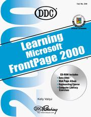 Cover of: Learning Microsoft Frontpage 2000 (Office 2000 Learning Series)