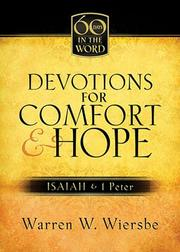 Cover of: Devotions For Comfort &  Hope: Isaiah & I Peter