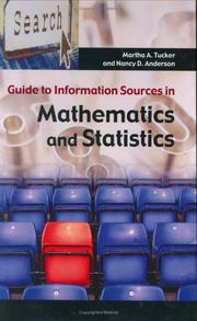 Cover of: Guide to Information Sources in Mathematics and Statistics (Reference Sources in Science and Technology)