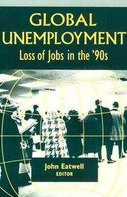 Cover of: Global Unemployment: Loss of Jobs in the '90s