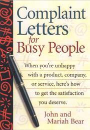 Cover of: Complaint Letters for Busy People