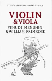 Cover of: Violin and Viola (Yehudi Menuhin Music Guides)