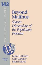 Cover of: Sixteen Dimensions of the Population Problem (Worldwatch paper)