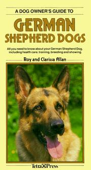 Cover of: A Dog Owner's Guide to German Shepherd Dogs