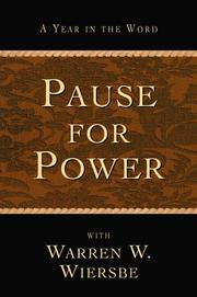 Cover of: Pause for Power: A Year in the Word