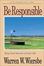 Cover of: Be Responsible