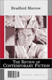 Cover of: Review of Contemporary Fiction