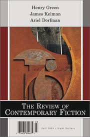 Cover of: The Review of Contemporary Fiction
