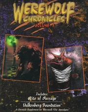 Cover of: Werewolf Chronicles: Rite of Passage