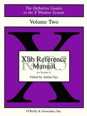 Cover of: XLIB Reference Manual R5 (Definitive Guides to the X Window System)