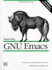 Cover of: Learning GNU Emacs, 2nd Edition