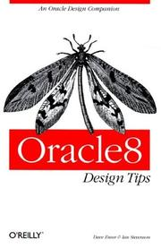 Cover of: Oracle8 Design Tips (A Nutshell Handbook)