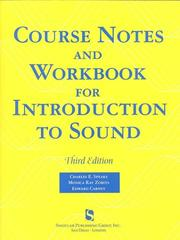 Cover of: Course Notes and Workbook for Introduction to Sound