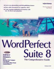 Cover of: Word Perfect Suite 8: The Comprehensive Guide