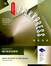 Cover of: The QuarkXPress Book for Windows