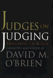 Cover of: Judges on Judging: Views from the Bench (Chatham House Studies in Political Thinking)
