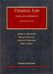 Cover of: Criminial Law