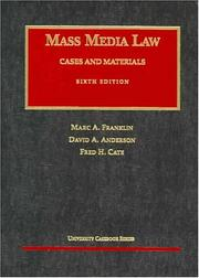 Cover of: Mass Media Law