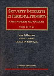 Cover of: Security Interests in Personal Property