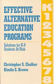 Cover of: Effective Alternative Education Programs
