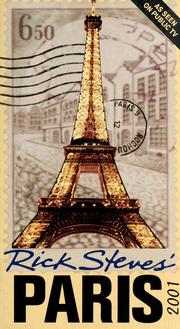 Cover of: Rick Steves' Paris 2001 (Rick Steves' Paris, 2001)