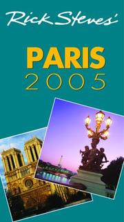 Cover of: Rick Steves' Paris 2005