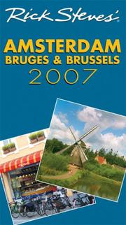 Cover of: Rick Steves' Amsterdam, Bruges, and Brussels 2007 (Rick Steves)
