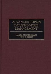 Cover of: Advanced Topics in Just-In-Time Management
