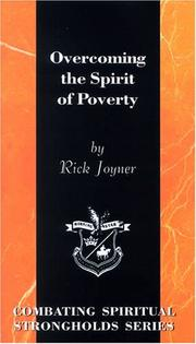 Cover of: Overcoming the Spirit of Poverty (Combating Spiritual Strongholds Series) (Overcoming)