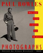 Cover of: Paul Bowles Photographs