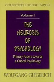 Cover of: The Neurosis of Psychology