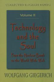 Cover of: Technology and the Soul
