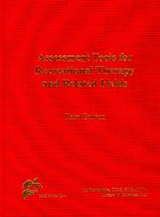 Cover of: Assessment Tools for Recreational Therapy and Related Fields