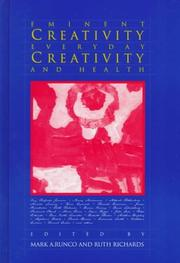 Cover of: Eminent Creativity, Everyday Creativity, and Health