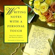 Cover of: Writing Notes With A Personal Touch
