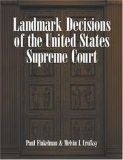 Cover of: Landmark Decisions of the United States Supreme Court